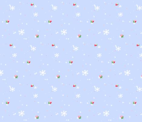 Strawberry Snow fabric by madam_neko on Spoonflower - custom fabric