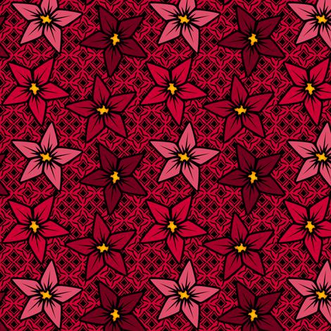 redflower fabric by glimmericks on Spoonflower - custom fabric
