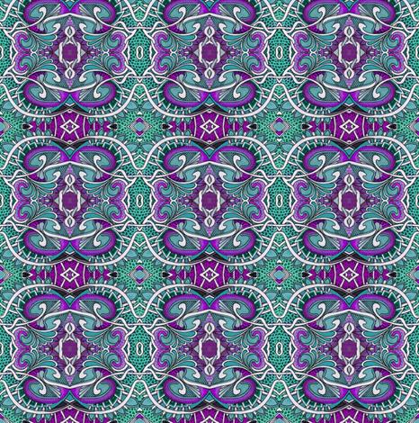 Teal Purple Dragon Skin Medallions fabric by edsel2084 on Spoonflower - custom fabric