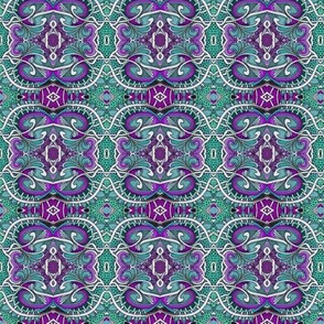 Teal Purple Dragon Skin Medallions