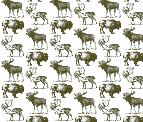 Vintage Hoofed Heavy Weights in Brown  fabric by icarpediem on Spoonflower - custom fabric