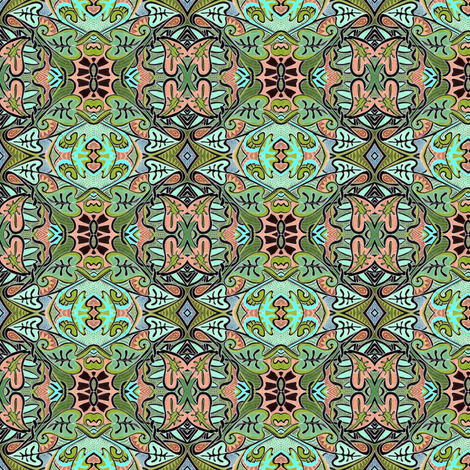Retro Fifties Philodendron  fabric by edsel2084 on Spoonflower - custom fabric