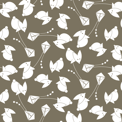 little brown kite fabric by happy_to_see on Spoonflower - custom fabric