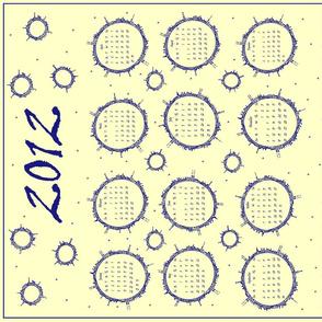 Planet Doodle Calendar 2012 (blue)