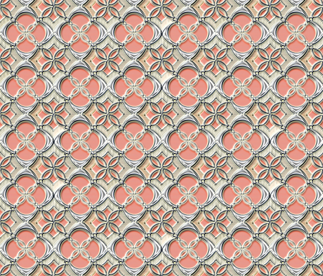 Asian Screen peach fabric by joanmclemore on Spoonflower - custom fabric