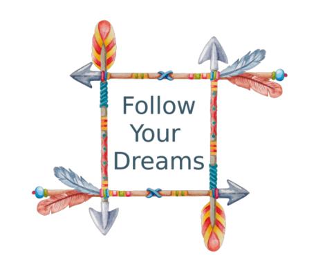Follow Your Dreams Tribal Art fabric by icarpediem on Spoonflower - custom fabric