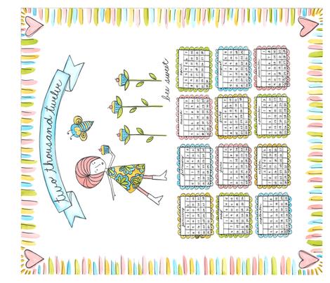 Debbi's Mod Year fabric by debbicrane on Spoonflower - custom fabric
