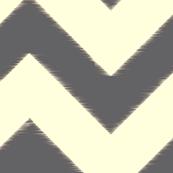 grey ikat chevron