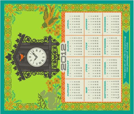 calendar_21x18_2 fabric by sadie_fox_studio_fabric on Spoonflower - custom fabric