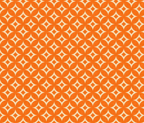 diamond_circles_orange fabric by holli_zollinger on Spoonflower - custom fabric