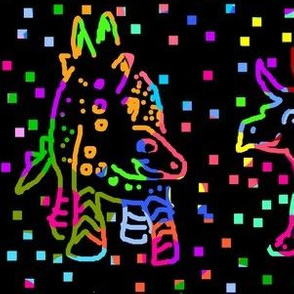 Scratchboard Dinos