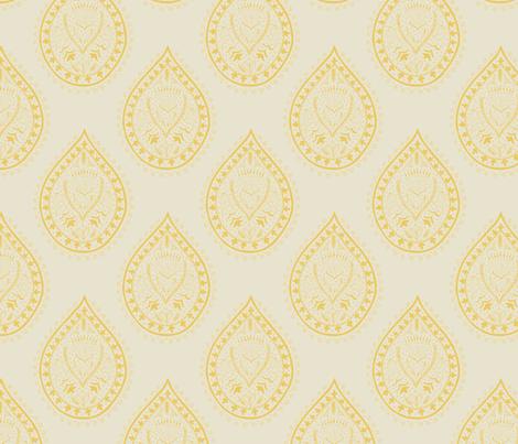 Mumbai in marigold fabric by domesticate on Spoonflower - custom fabric