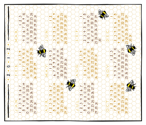 may-bee_next_year 2012 fabric by lynnerd on Spoonflower - custom fabric