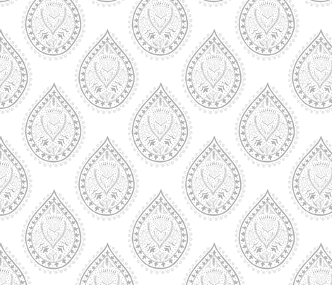 Mumbai in gray fabric by domesticate on Spoonflower - custom fabric