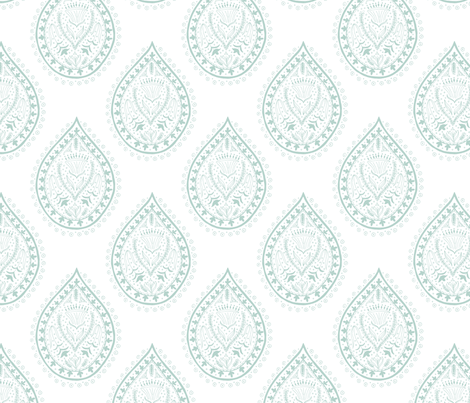 Mumbai in sage fabric by domesticate on Spoonflower - custom fabric