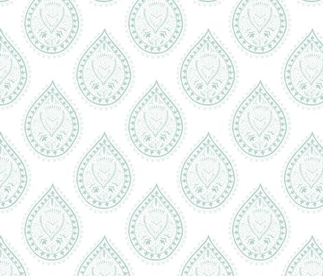 Mumbai in sage fabric by domesticate on Spoonflower - custom fabric