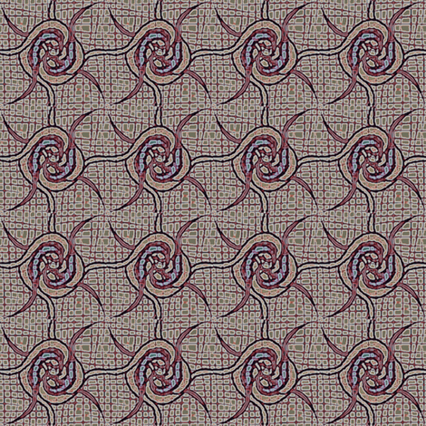 spin_rosettes red blue fabric by glimmericks on Spoonflower - custom fabric