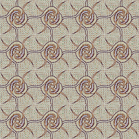 spin_rosettes beige lilac fabric by glimmericks on Spoonflower - custom fabric