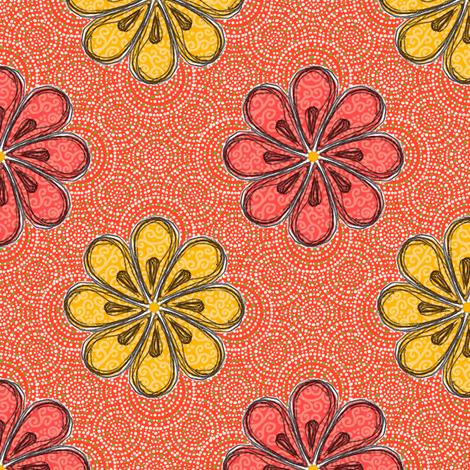 Valencia Flowers fabric by siya on Spoonflower - custom fabric