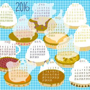 2016 Pie-of-the-month Calendar