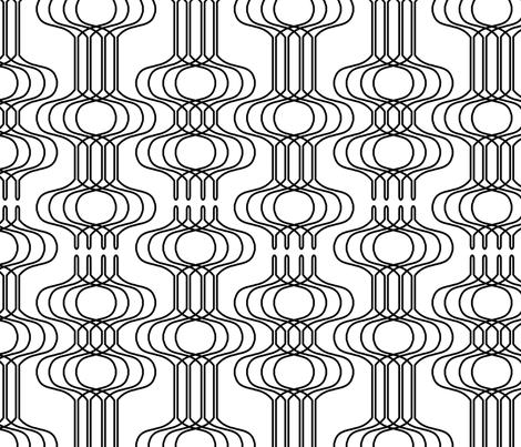 Mingle Black & White fabric by thirdhalfstudios on Spoonflower - custom fabric