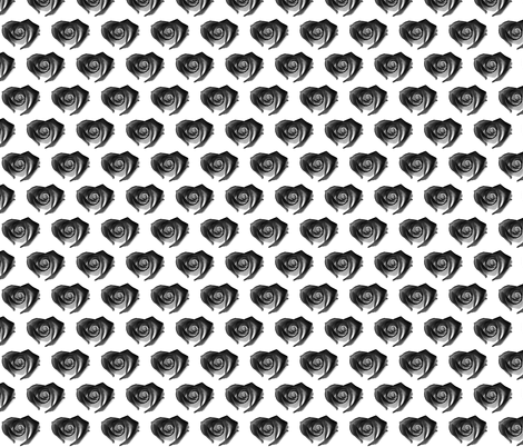 Heart_Shaped_RoseBlackDryBrush fabric by glennis on Spoonflower - custom fabric
