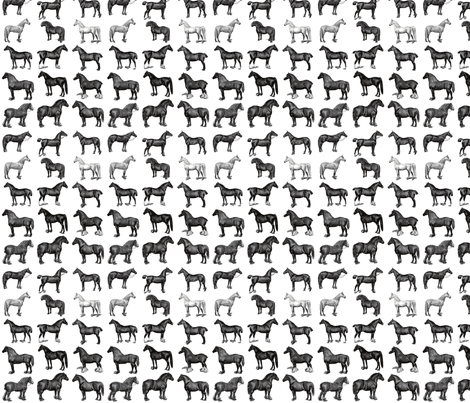 The Horse  fabric by icarpediem on Spoonflower - custom fabric