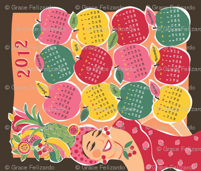 Carmen Calendar Tea Towel