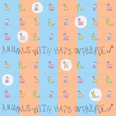 Animals with Hats Repeat BlueXOrange