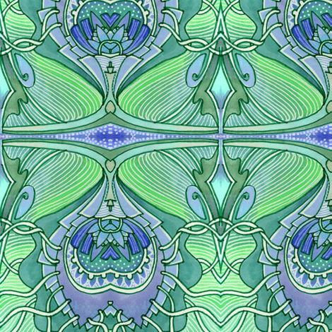 Oh no, more art nouveau fabric by edsel2084 on Spoonflower - custom fabric
