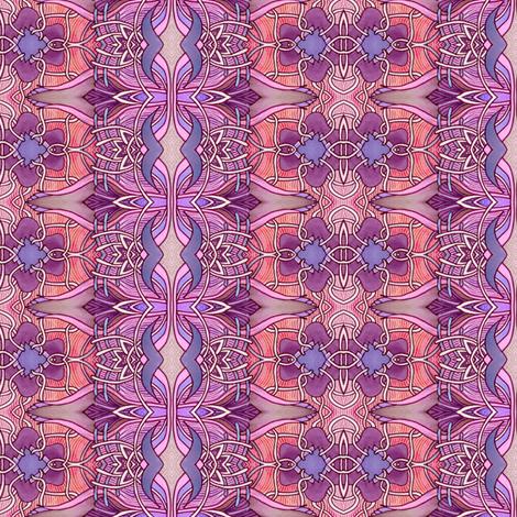 Basket-weave Tulip Stripe Nouveau fabric by edsel2084 on Spoonflower - custom fabric