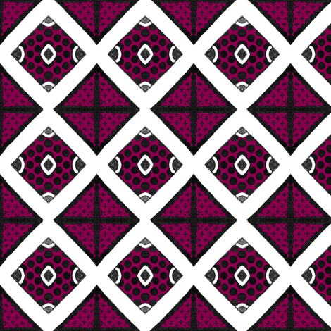 Warsaw Diamonds fabric by siya on Spoonflower - custom fabric