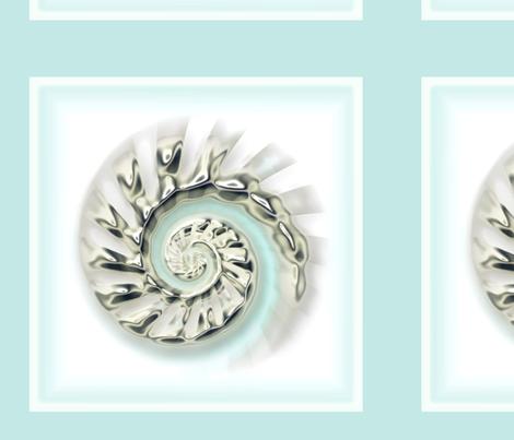 Mercury Glass Nautilus  fabric by joanmclemore on Spoonflower - custom fabric