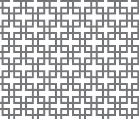 Big Box-Charcoal Small fabric by honey&fitz on Spoonflower - custom fabric