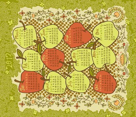 2012 Tea Towel  fabric by 1stpancake on Spoonflower - custom fabric