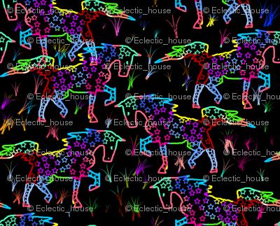 Scratchboard Walking Horse