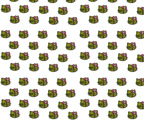 zombie kitty fabric by geekinspirations on Spoonflower - custom fabric