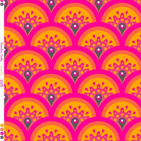 Koi No Bori scales fabric by zesti on Spoonflower - custom fabric