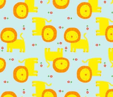 Lion fabric by lydia_meiying on Spoonflower - custom fabric