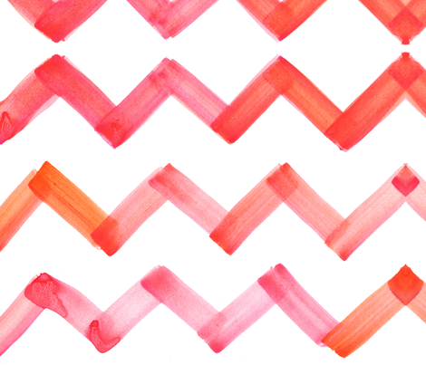 cestlaviv_chevron_pinkorange fabric by @vivsbeautifulmess on Spoonflower - custom fabric