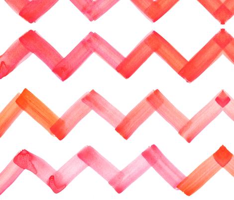 cestlaviv_chevron_pinkorange fabric by cest_la_viv on Spoonflower - custom fabric