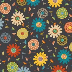 Flower Shower Charcoal (Medium)