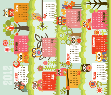 Hello 2012 fabric by valentinaharper on Spoonflower - custom fabric