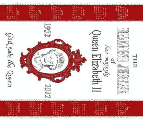 Diamond Jubilee tea towel fabric by minimiel on Spoonflower - custom fabric