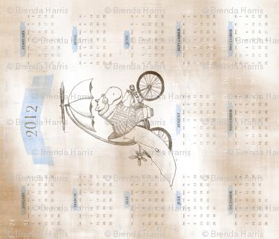 2012 calendar: Flying Hippo