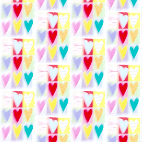 Blurry Hearts fabric by glennis on Spoonflower - custom fabric