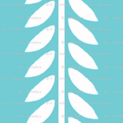 Willow Branch stripe - Blue
