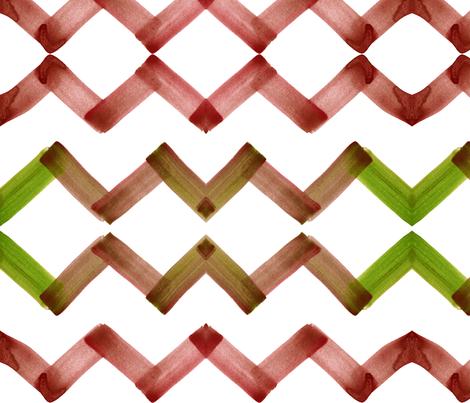 cestlaviv_chevron_topaz fabric by cest_la_viv on Spoonflower - custom fabric