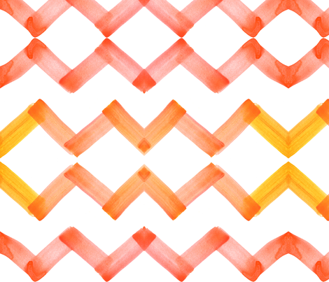 cestlaviv_chevron_citrin fabric by cest_la_viv on Spoonflower - custom fabric