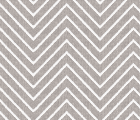 Chevron Chic - Maxi - Silver Grey fabric by kristopherk on Spoonflower - custom fabric
